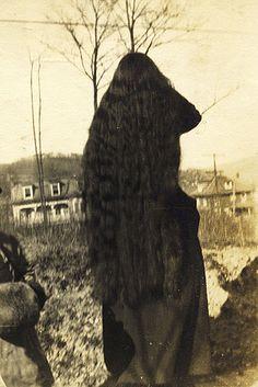 Vintage photo. Long hair.