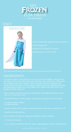 elsa dress tutorial step by step 1