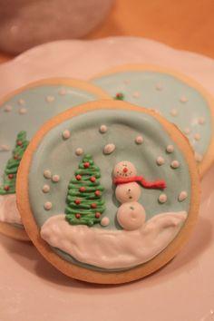 Snow Globe Sugar Cookies