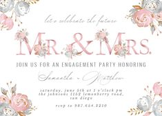 Rose Gold Alphabet - Engagement Party Invitation #invitations #printable #diy #template #Engagement #party #wedding Engagement Party Invitations, Lets Celebrate, Party Wedding, Wedding Engagement, Create Yourself, Alphabet, Printable, Place Card Holders, Rose Gold
