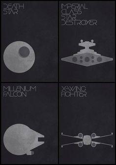 Star Wars Ships - Minimalist