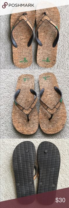 7c902c0ede5e0 Men s Sanuk Cork Flip Flops Sanuk Cork Flip Flop s Size 13 Sanuk Shoes Size  13 Shoes