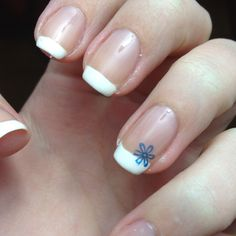 French tip practice. I did my moms nails like this for a wedding.