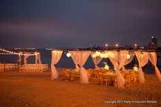 candelas night beach wedding--- for an anniversary or vow renewal :)
