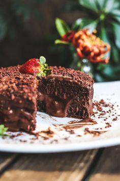 Receita vegana de bolo mousse de chocolate