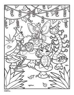 this is too busy but id like the lady bug and the centipede on coloring for adultscoloring pages - Insect Coloring Pages