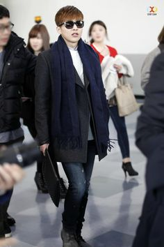 150131 Xiumin at Airport ©exoyeah