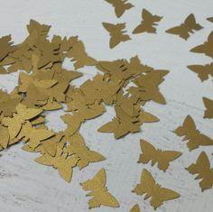 Gold Butterfly Confetti Shiny Butterfly Confetti by LucyBirdy