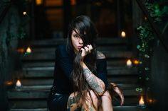 #model : Ira Chernova   #tattoos #hair #natural #beauty #fashion #goth #punk