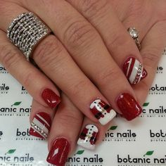 christmas by botanicnails #nail #nails #nailart #red #santa