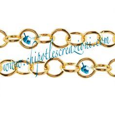Catena Alluminio Tonda Color Oro,  Round Aluminum Chain Gold Colour