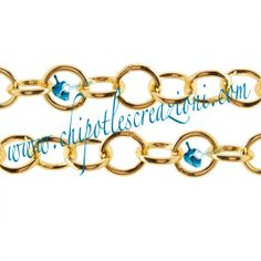 Catena Alluminio Tonda Color Oro,  Round Aluminum Chain Gold Colour