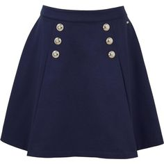 Tommy Hilfiger Fekla Sailor Skirt (130 PEN) ❤ liked on Polyvore featuring skirts, bottoms, saias, blue, tommy hilfiger, tommy hilfiger skirts, blue skirts and sailor skirt