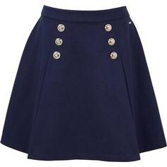 Tommy Hilfiger Fekla Sailor Skirt (395 BRL) ❤ liked on Polyvore featuring skirts, blue skirt, tommy hilfiger, tommy hilfiger skirts and sailor skirts
