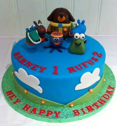 Hey Duggee Birthday Cake Boy Birthday Parties, Birthday Fun, Birthday Ideas, Wedding Cakes With Flowers, Cake Flowers, Blaze Cakes, Peppa Pig Birthday Cake, 1st Birthdays, Party Cakes