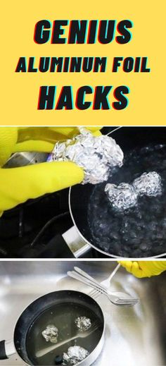 Simple Life Hacks, Useful Life Hacks, Diy Cleaning Products, Cleaning Hacks, Kitchen Hacks, Kitchen Gadgets, 1000 Lifehacks, Aluminium Kitchen, Aluminum Uses