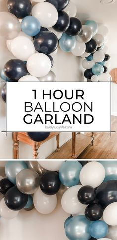 Balloon Arch Diy Discover How To Make A Seriously Easy Balloon Garland Want an easy party decoration that will make a BIG impact? This easy balloon garland diy tutorial will be your new BFF! Easy Party Decorations, Birthday Balloon Decorations, Baby Shower Decorations For Boys, Baby Boy Birthday Decoration, 30th Birthday Balloons, Diy Birthday, Birthday Ideas, Baby Boy Balloons, Large Balloons