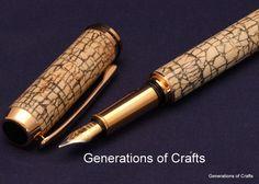 Handmade Pen  White Coconut Shell   by GenerationsOfCrafts on Etsy, $95.00