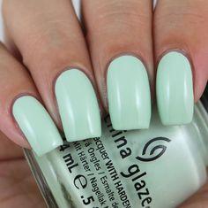China Glaze Re-fresh Mint swatched by Olivia Jade Nails Jade Nails, Olivia Jade, Nail Polish Collection, Fresh Mint, China Glaze, Swatch, Nail Art, Ongles, Nail Arts
