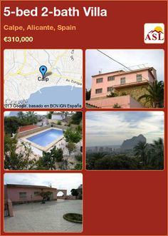 5-bed 2-bath Villa in Calpe, Alicante, Spain ►€310,000 #PropertyForSaleInSpain