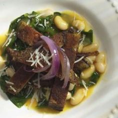 Portobello Paillards with Spinach, White Beans & Caramelized Onions: I made this as a vegetarian alternative for a Thanksgiving main, and the carnivores ate it along with their turkey!
