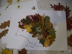 Syksyinen siili Autumn Crafts, Autumn Art, Nature Crafts, Diy For Kids, Crafts For Kids, Arts And Crafts, Leaf Crafts, Creative Kids, Teaching Art