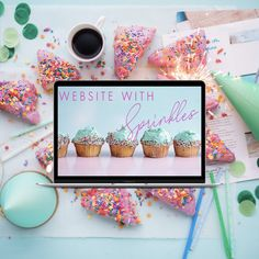 Does your website sparkle and has sprinkles on it? 🤩🤩🤩 Wanna know more? Just call me. But please on Monday! Enjoy your weekend xoxo Daniela Web Design, Enjoy Your Weekend, Sprinkles, Designer, Cupcake, Sparkle, Sweets, Turquoise, Website