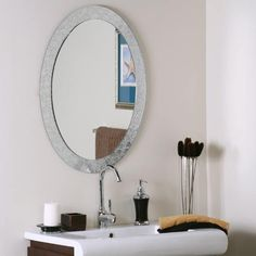 Luxor Frameless Oval Mirror