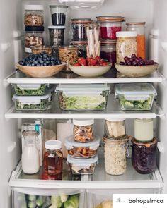 I don't know where to look first with this healthy and deliciously organized fridge shared by They say you eat what you see. Prioritizing healthy foods at an easy to see and in an easy to eat way will… Continue Reading → Refrigerator Organization, Kitchen Organization Pantry, Home Organisation, Organized Fridge, Organization Ideas, Fridge Storage, Healthy Fridge, Healthy Foods, Kitchen Dining