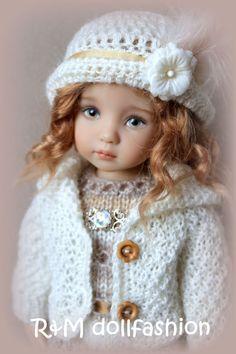 "R&M DOLLFASHION -TREASURE LINE handknit set for Effner Little Darling 13"" dolls"
