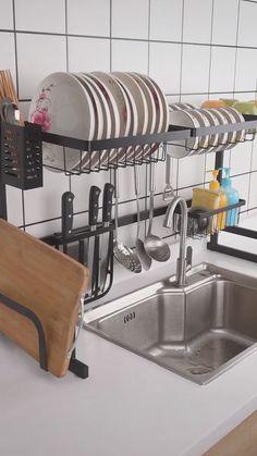 DIY Kitchen Organizer and Storage Ideas Diy Kitchen, Kitchen Design, Kitchen Decor, Kitchen Ideas, Kitchen Organization, Kitchen Storage, Organization Ideas, Storage Ideas, Utensil Storage