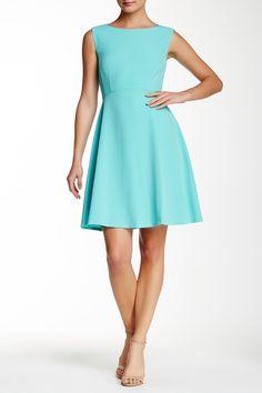 Cap Sleeve Crepe Fit & Flare Dress by Tahari on @nordstrom_rack