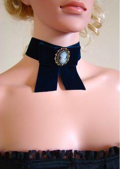 Fashion Velours Noir Collier Tour de Cou Mousseline Noeud Col Collier Pour Femmes