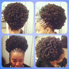 WOW!!!! LOVE....... Nubian Accents loc petals twisted into a pony  instagram #fancyfacecouture