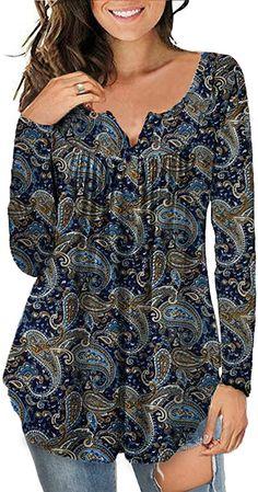 Tunic Tops For Leggings, Long Tunic Tops, Long Sleeve Tunic, Long Sleeve Tops, Plus Size Blouses, Plus Size Tops, Plus Size Women, Pretty Shirts, Henley Shirts