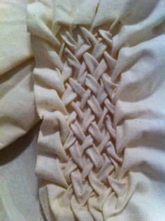 Lattice Smocking sample - structural fabric manipulation; sewing techniques; textiles // Peter Hale Cooney