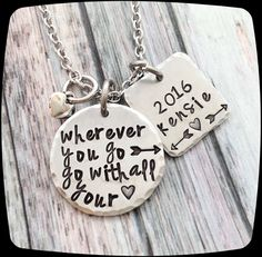 Graduation Gift, Gift For Grad, Inspirational Gift, Custom Grad Gift, High School Grad Gift, College Grad Gift, Graduation Jewelry by ThatKindaGirl on Etsy