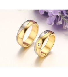nemesacél gyűrű, Kéttónusú, kristályos női nemesacél Paros, Wedding Rings, Engagement Rings, Jewelry, Enagement Rings, Jewlery, Jewerly, Schmuck, Jewels