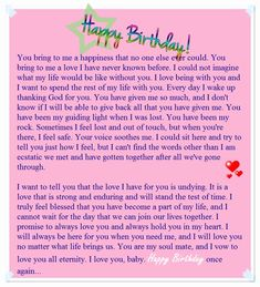 happy birthday mom Birthday paragraph for her - Sample birthday letters for girlfriend - Love You Messages Birthday Letter For Girlfriend, Birthday Letters To Boyfriend, Happy Birthday Boyfriend Message, Happy Birthday Love Quotes, Letter To My Boyfriend, Happy Birthday Notes, Birthday Greetings For Boyfriend, Message For Girlfriend, Birthday Quotes For Best Friend