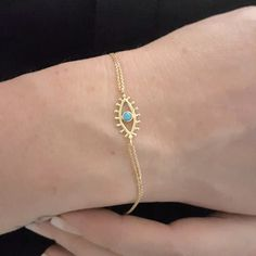 Italian Gold Jewelry, Real Gold Jewelry, Solid Gold Jewelry, Keep Jewelry, Turquoise Jewelry, Turquoise Stone, Women Jewelry, Mens Chain Necklace, Eye Necklace
