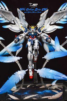 GUNDAM GUY: RG 1/144 Wing Gundam Zero + Weapon Part Set - Painted Build