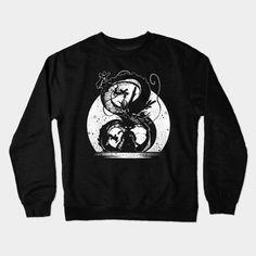 SILHOUETTE OF THE DRAGON BALL Crewneck Sweatshirt #silhouette #dbz #dragonballz #anime #goku #saiyan #teepublic
