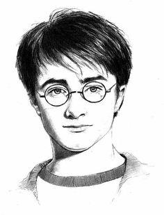 Famous faces - pencil art by julie drawings, sketches, art, harry potter, Harry Potter Sketch, Arte Do Harry Potter, Harry Potter Painting, Harry Potter Artwork, Harry Potter Drawings, Harry Potter Wallpaper, Harry Potter Movies, Harry Potter Hogwarts, Pencil Art Drawings