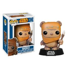 Star Wars Ewok Wicket Pop! Vinyl Bobble Head - Funko - Star Wars - Pop! Vinyl Figures at Entertainment Earth