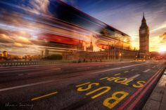 This image was taken during the week of the London Olympics As I live in Derbyshire (which is over a hundred miles north from London), I rarely get a chance to visit this city. London Bus, Hdr Photography, Bus Stop, Derbyshire, Step By Step Instructions, Amazing Art, Big Ben, City, Image