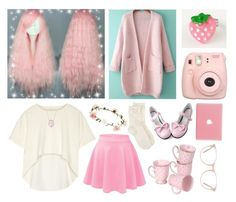 """49- pink and cream"" by ew-its-matthew ❤ liked on Polyvore featuring Fujifilm, Oak, Bling Jewelry, Monsoon, Accessorize and Ace"