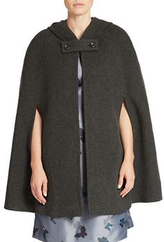 424 Fifth Hooded Double-Face Cape
