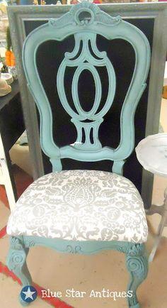 What a pretty little chair! Chalk Paint® decorative paint by Annie Sloan Provence Chalk Paint Chairs, Painted Chairs, Chalk Paint Furniture, Furniture Projects, Furniture Making, Furniture Makeover, Diy Furniture, Chair Makeover, Annie Sloan Painted Furniture