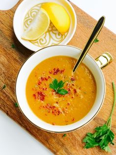 Today I'm sharing with you one of my favorite go-to recipes. I make this Turkish Red Lentil Soup when I need a quick and easy dinner, when anyone in the family is a little under the weather,… Turkish Meatballs, Turkish Recipes, Ethnic Recipes, Dried Lentils, Red Lentil Soup, How To Dry Oregano, Whole Food Recipes, Curry, Easy Meals