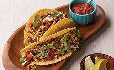 Lunch/Dinner: Tex-Mex Tacos calories/serving) serve with Epicure salsa and side salad Epicure Recipes, Healthy Beef Recipes, Roast Beef Recipes, Ground Beef Recipes, Lunch Recipes, Lunch Menu, Dinner Menu, Tex Mex, Orlando